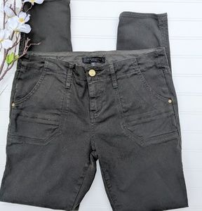 Sanctuary Forest Green Skinny Jeans Cargo Pockets